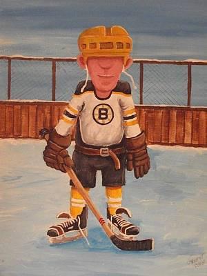 Nhl Winter Classic Painting - Rinkrattz - Boston Rg by Ron  Genest
