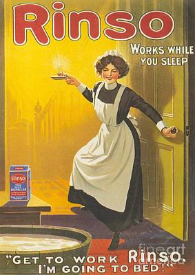 Rinso 1910s Uk Washing Powder Maids Print by The Advertising Archives