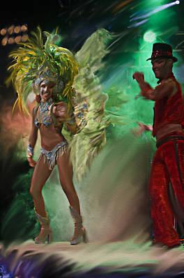 Del Rio Digital Art - Rio Dancer II A  by Axko Color de paraiso