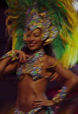 Del Rio Digital Art - Rio Dancer IIi B by Axko Color de paraiso