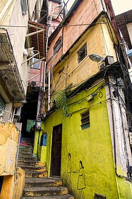 Rio De Janeiro Brazil -  Favela Housing Print by Jon Berghoff