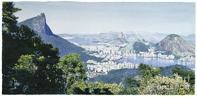 Rio De Janeiro's Panoramic View Print by Jorge Eduardo
