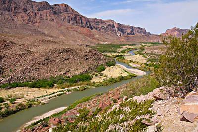 Borders Photograph - Rio Grande by Christine Till