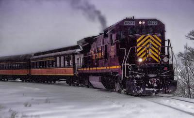 Snowbound Photograph - Rio Grande Scenic Railroad by Ellen Heaverlo