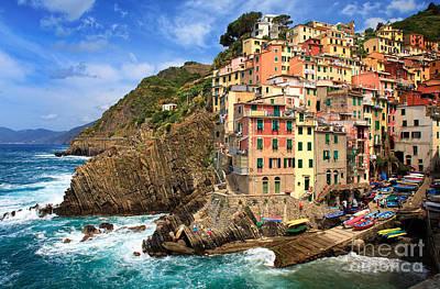 Liguria Photograph - Rio Maggiore Coastline by Inge Johnsson