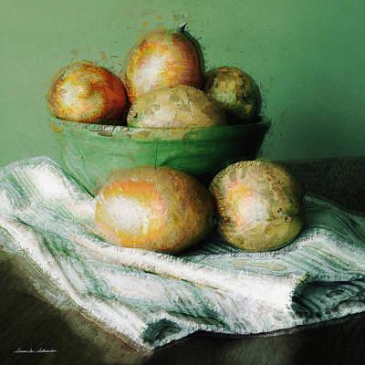 Mango Digital Art - Ripe Mangoes In A Bowl by Susan Schroeder