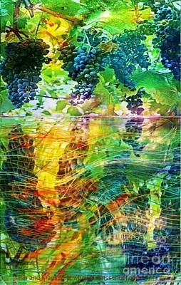 Reflection Harvest Painting - Ripened Vines by PainterArtist FIN