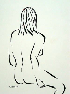 Black And White Erotic Art Drawing - Ripose 1 by Pamela Allegretto