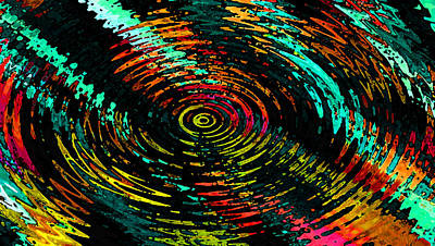 Digital Art - Ripple In Time by Josephine Ring