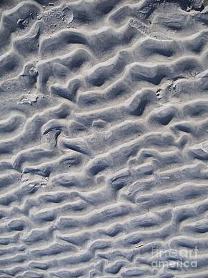 Abstract Beach Landscape Digital Art - Ripples In The Sand And Surf by Eric  Schiabor