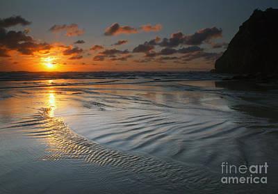 Ripples On The Beach Original by Mike  Dawson
