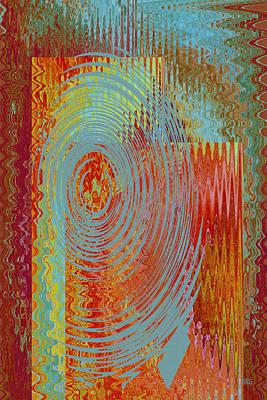 Geometric Digital Art - Rippling Colors No 3 by Ben and Raisa Gertsberg