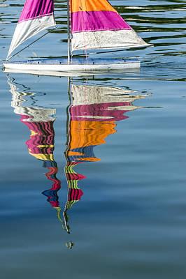 Rippling Reflections Print by Lynn Palmer