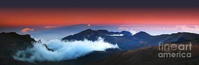 Rise And Set At Haleakala's Peak  Print by Marco Crupi