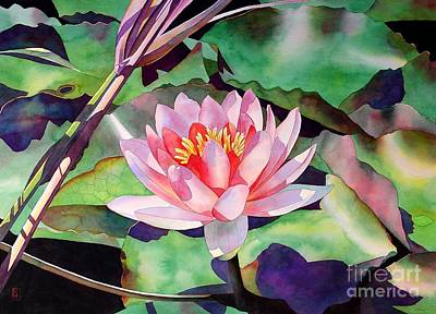 Waterlilies Painting - Rise And Shine by Robert Hooper