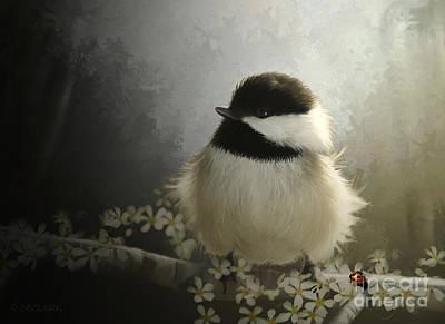 Chickadee Digital Art - Rise N Shine by Beve Brown-Clark Photography