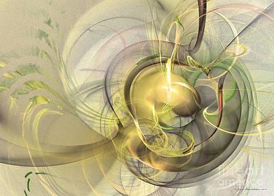 Green Digital Art - Rising by Sipo Liimatainen