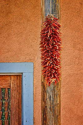 Outdoor Still Life Photograph - Ristra And Door by Nikolyn McDonald