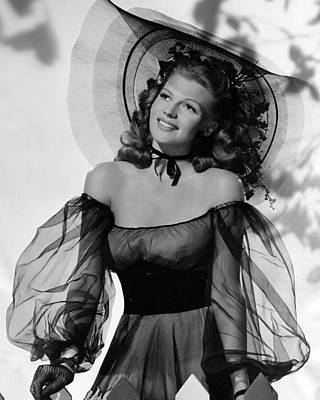 Rita Hayworth In Balck Dress Print by Retro Images Archive