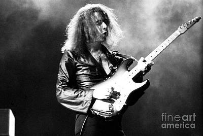 Ritchie Photograph - Ritchie Blackmore 1973 Deep Purple by Chris Walter