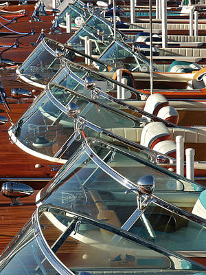 Riva Runabouts Print by Steven Lapkin