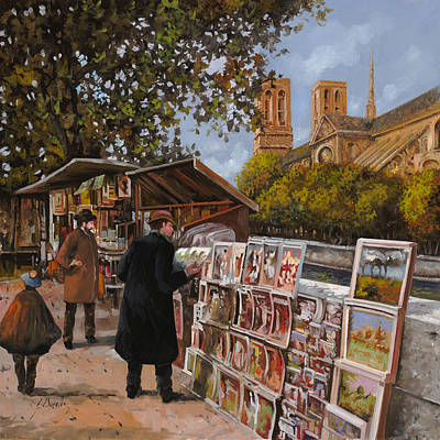 Notre Dame Painting - Rive Gouche by Guido Borelli