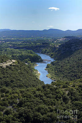 Languedoc Photograph - River Ardeche. France by Bernard Jaubert