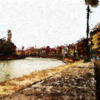 Digital Art - River Arno In Pisa_impressionist Inspired Digital Painting by Asbjorn Lonvig