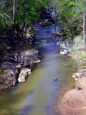 River At Noccalula Falls Print by Debra Forand
