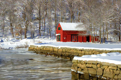 Peaceful Photograph - River Barn by Donna Doherty