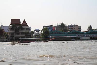 Taxi Photograph - River Boat Taxi - Bangkok Thailand - 01138 by DC Photographer
