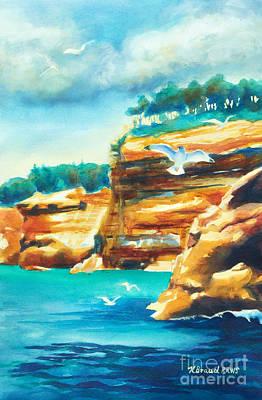 River Cliffs 2 Print by Kathy Braud