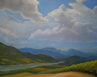 River Clouds Original by Rich Alexander