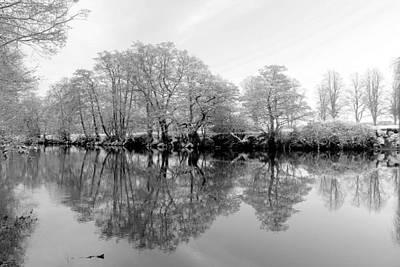 English Digital Art - River Derwent Winter Reflections by Online Presents