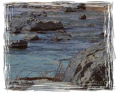 River Flows Print by Bobbee Rickard