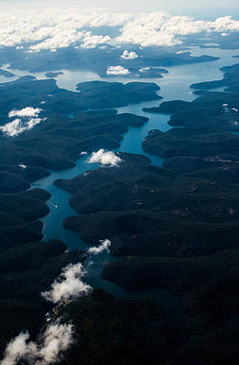 Aerial Photograph - River From The Sky by Parker Cunningham