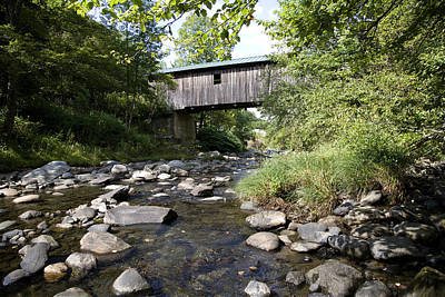 River Gorge Covered Bridge Print by Jim  Wallace
