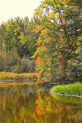 Hillman Photograph - River In Fall by Rhonda Humphreys