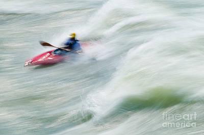 Abstract Photograph - River Kayaking by Oscar Gutierrez