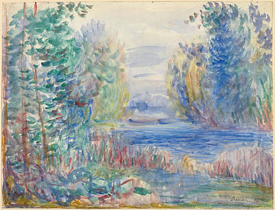 Pierre-auguste Renoir Painting - River Landscape 1890 by Pierre-Auguste Renoir