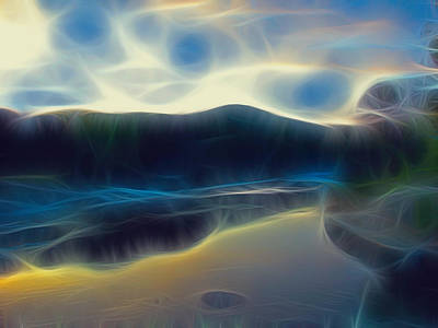 Wendy J. St. Christopher Digital Art - River Of Dreams And Wishes by Wendy J St Christopher