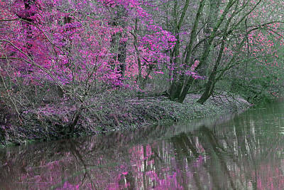 Indiana Scenes Digital Art - River Of Pastel by Lorna Rogers Photography