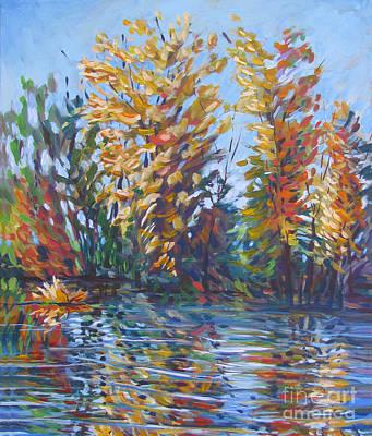 Stockton Painting - Fall Arrives At River Road by Vanessa Hadady BFA MA