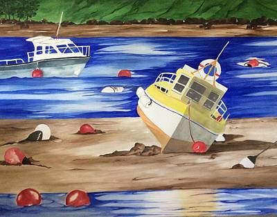 Docking Painting - River Shannon  by Sandra Reina