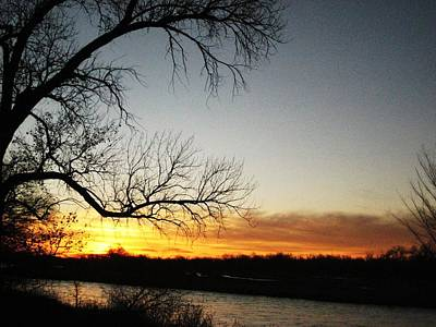 Nature Photograph - River Sunrise by Alicia Knust