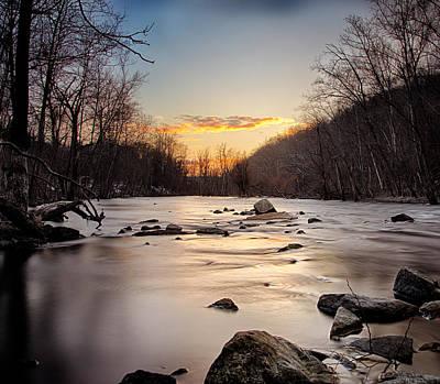 River Sunset Print by Emmanouil Klimis