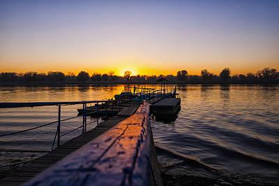 River Sunset Print by Svetlana Sewell