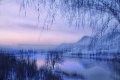 River Sunset Print by Theresa Tahara