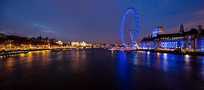 River Thames And London Eye Original by Adam Pender