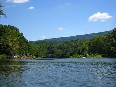 Mountains Photograph - River Tubing - 12128 by DC Photographer